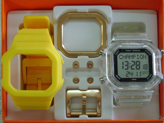 Relógio Champion Yot Original Cp40180x Nf Monte O Seu Kit
