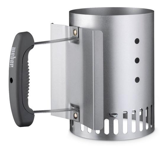 Weber Encendedor De Carbón Compacto Rapidfire Iniciador De Fuego Para Asador - 7447