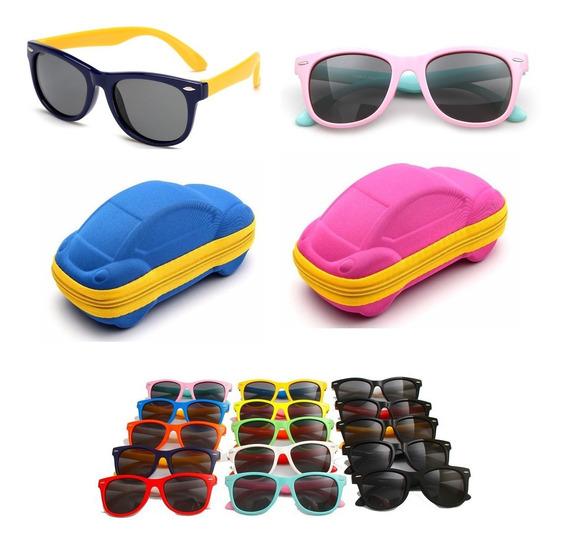 Óculos De Sol Infantil Polarizado Flexível + Capinha