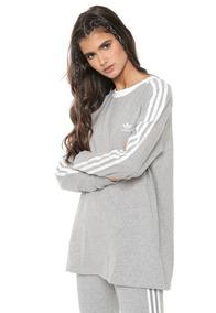 e8a1fe09f Camiseta adidas 3-stripes Manga Longa Feminina - Original