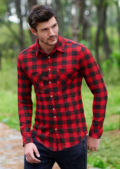 Camisas Rojo Negro 1388275
