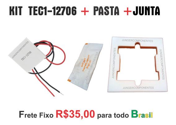 Kit Peltier Tec112706 + Sachê Pasta Termica + Junta Isolante