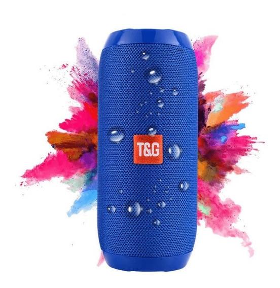 Caixa De Som Sem Fio Bluetooth T&g Portátil Original Mp3 Ver