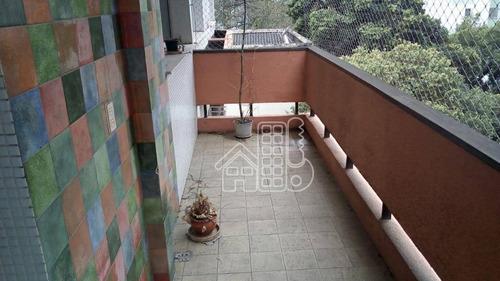 Apartamento Com 3 Dormitórios À Venda, 124 M² Por R$ 690.000,00 - Icaraí - Niterói/rj - Ap2133