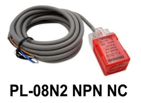 Sensor Tipo Fotek Marca Zhongde Indutivo Pl-08n2 Dc Pnp Nc