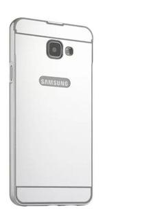 Capa Capinha Case Bumper Espelhada Galaxy A7 A710 2016 Prata
