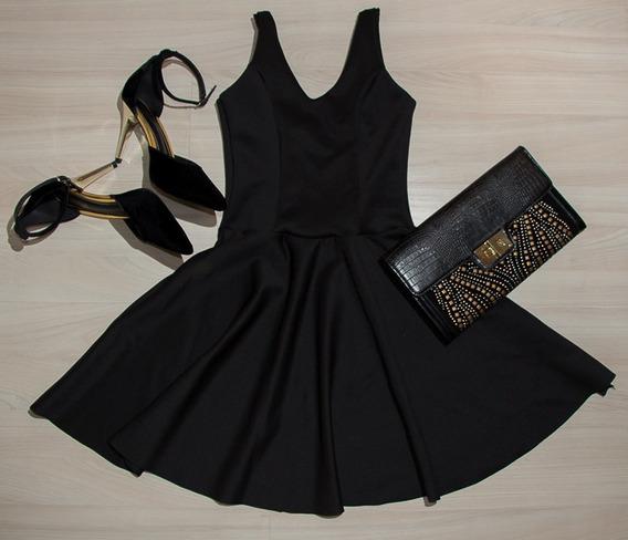 Vestido Feminino Rodado Cintura Marcada Boneca Lines