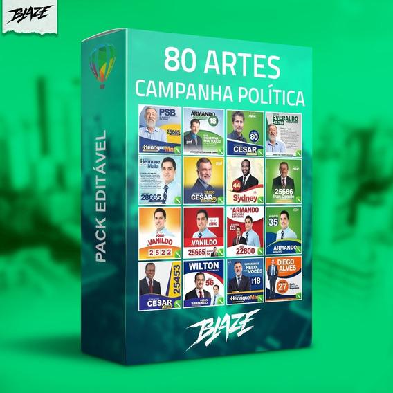 Pack 80 Artes Campanha Política Editável Coreldraw
