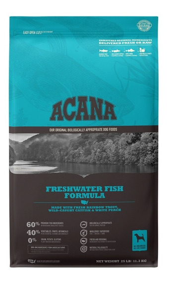 Acana Freshwater Fish 11.3 Kg Alimento Para Perro
