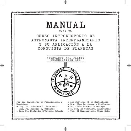 Imagen 1 de 1 de Manual Para El Curso Introductorio De Astronauta