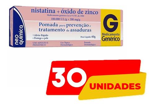 Imagem 1 de 2 de 30 Pomada Assadura Nistatina+ox.zinco 60g Neoquimica Atacado