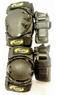 Kit De Protección,reforzado Skate,codos,rodillas Y Muñeqas