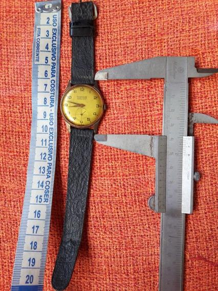 Relógio Antigo Mondaine Antimagnetic Corda Leia Descrição