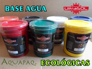 Tinta Serigrafía Base Agua Aquapaq Ultrasol Kilos