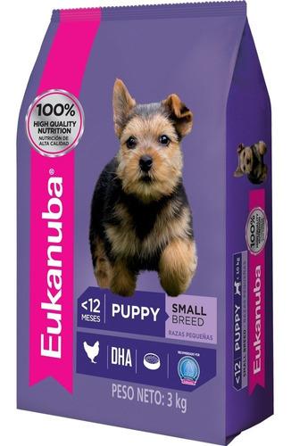 Imagen 1 de 2 de Comida Perro Eukanuba Cachorro Razas Pequeñas 3kg