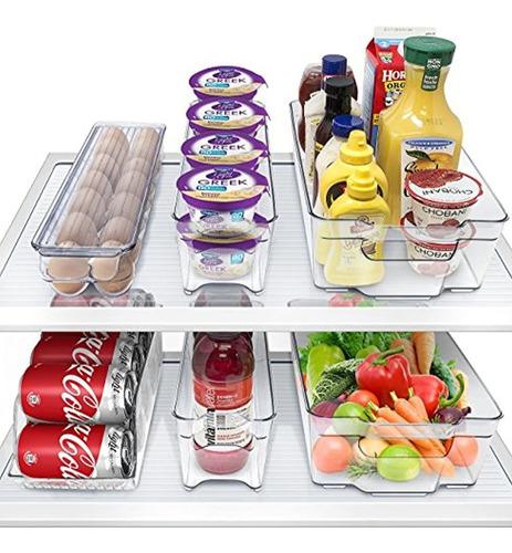 Contenedores De Refrigerador Y Congelador Apilables 6 Piezas