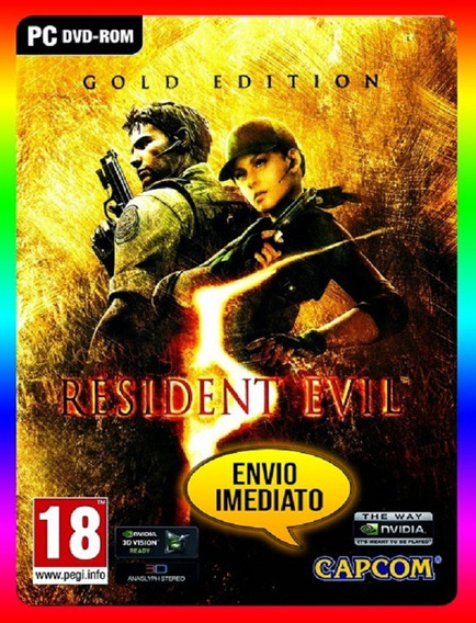 Resident Evil 5 Gold Edition Pc - Steam Key (envio Já)