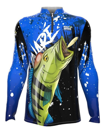 Camiseta Proteção Solar Uv Pesca Masculina Peixe Dryfit Roup