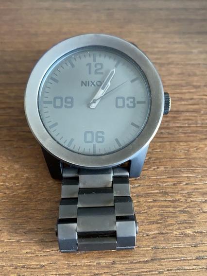 Relógio Nixon Metal Escuro Gunmetal