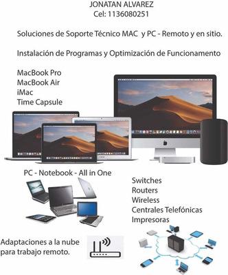 Soporte Técnico - Remoto - Particulares/oficinas