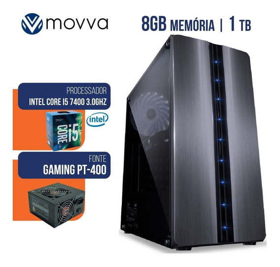 Computador Gamer Intel I5 7400 3.0ghz 7ª Ger Mem 8gb Hd 1tb