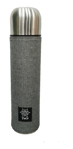 Imagen 1 de 10 de Termo Bala 1 Litro Acero Inox Doble Capa Termica - Yuco
