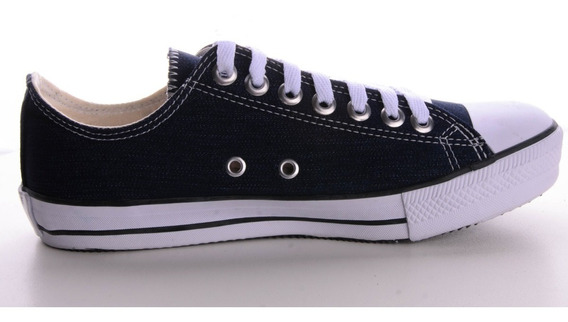 Tênis Converse All Star Cano Baixo Azul Jeans Escuro