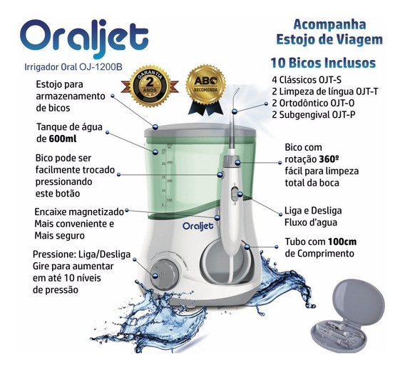 Irrigador Oral Water Ultra Oj-1200 Familia Fio Dental Agua