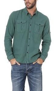 Camisa Com Bolsos. Verde Militar. Opera Rock