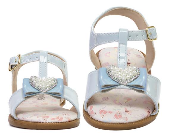 Sandalia Rasteira Menina Bebe Infantil Festa Dourada Rosa 96