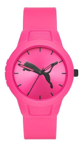 Reloj Dama Puma Reset V2 P1015 Color Rosa De Poliuretano
