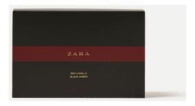 Kit Zara Edt 2x100ml (black Amber + Red Vanilla)