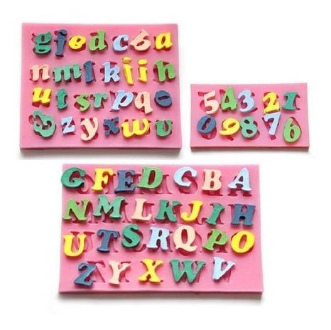 3 Peças Molde De Silicone Alfabetos Números Pasta Americana