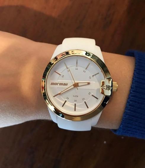 Relógio Mormaii Branco Feminino Maui Mopc21jag/8b