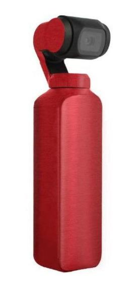 Capa Protetora Em Adesivo Metálico Verm.para Dji Osmo Pocket