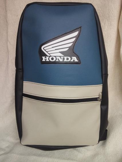 Mochila Con Logo Honda Ecocuero Tricampeón