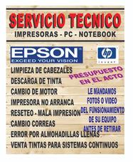 Service Reparacion Impresoras Epson Hp Laser Flores Caba