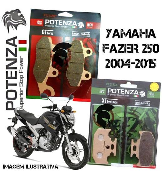 Jogo Completo Pastilhas Freio Fazer 250 Potenza 152 165
