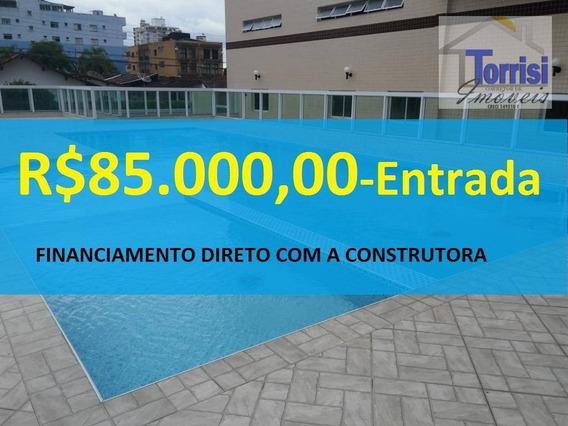 Apartamento Em Praia Grande, 02 Dormitórios, Vila Caiçara - Ap2071 - Ap2071