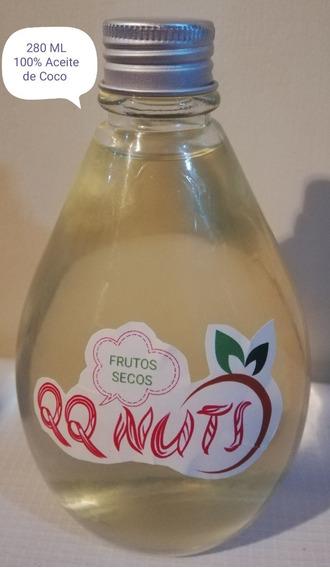 Aceite De Coco (280 Ml), Prensado Al Frio 100% Natural (6v)