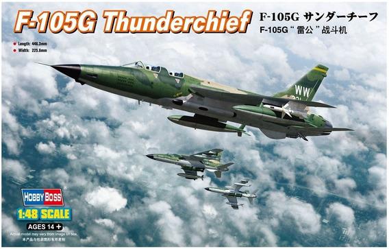 Maqueta Hobbyboss 80333 Avion F-105g Thunderchief Esc 1/48