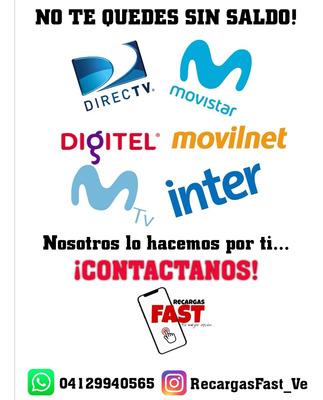 Recargas De Saldo Movistar Digitel Movilnet Directv Inter