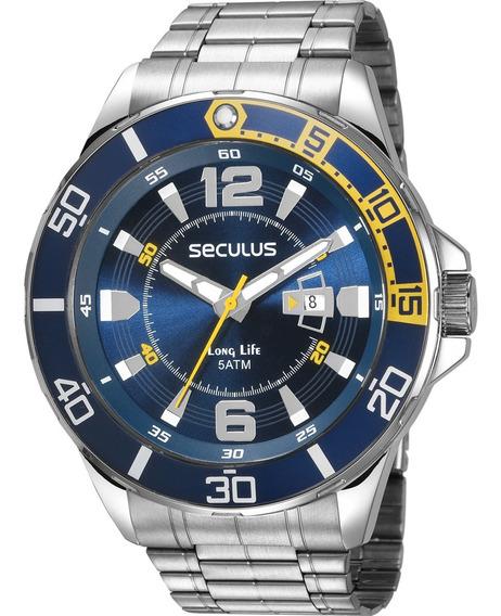 Relógio Seculus Masculino Barato Garantia Original Com Nota
