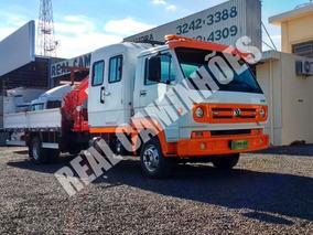 Vw 10.160 4x2 2014 Cab Suplem Carr. Munck Guindaste Facchini