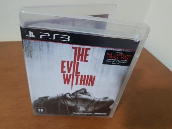 The Evil Within Usado Original Manual Ps3 Midia Física