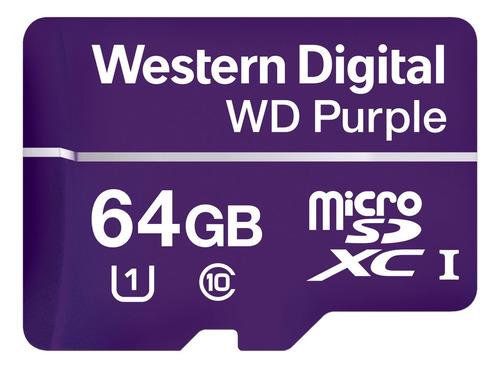 Cartão Micro Sd 64gb 32tbw Intelbras Purple Alto Desempenho