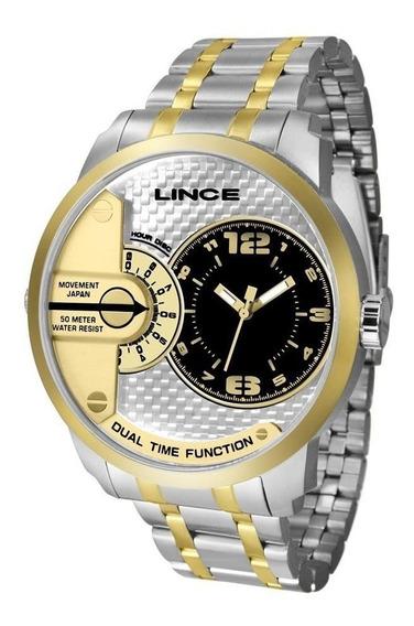 Relógio Lince Masculino Ref: Mrth080s P2sk Big Case Bicolor