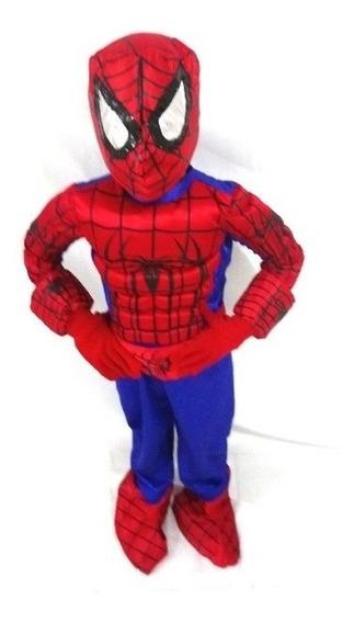 Disfraz De Spider Man Hombre Araña Para Niño Super Heroe Mar