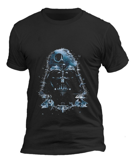 Playera Negra Caballero Algodón Star Wars Darth Vader