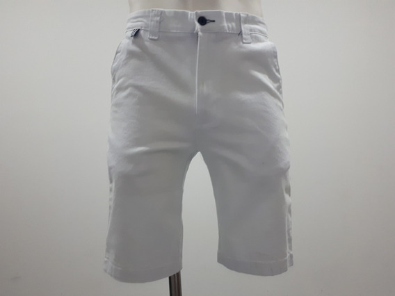 Short Bermuda Collors Couture 5232 Skinny Blanco Ajustado